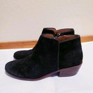 Sam Edelman Petty Chelsea Ankle Boots Black Suede